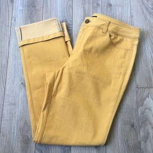 EUC Lafayette 148 NY mustard yellow stretchy pants